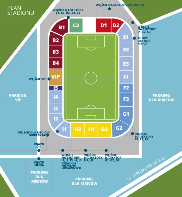 Mapa Areny Lublin 2020